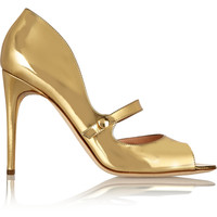Rupert Sanderson - Zelena metallic leather Mary Jane pumps