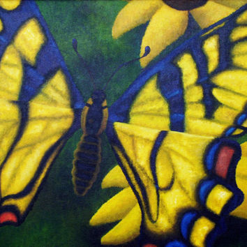 Transform and Be Free - Poster of Acrylic Paint Butterfly Fine Art