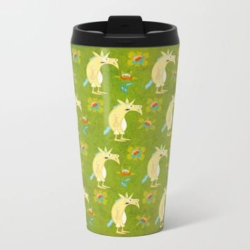 Flowers & Unicorns Metal Travel Mug by That's So Unicorny