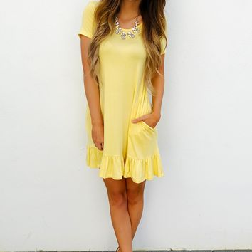 Simply Me Dress: Yellow