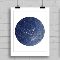 Capricorn Constellation Wall Art Print - Zodiac Themes Printable Home Decor Wall Art (JPG/PDF) 8x10