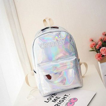 Reflective Laser Letter Personality Backpack