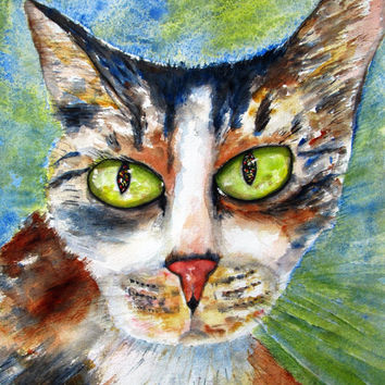 Custom Watercolor Pet Portrait, 5x7, 8x10, Painting from photo,  Dog, Cat, Animal painting, Original Watercolor, made to order