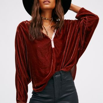 Free People Velvet Dolman
