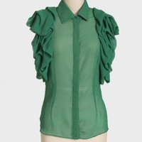 lush valley ruffled top at ShopRuche.com