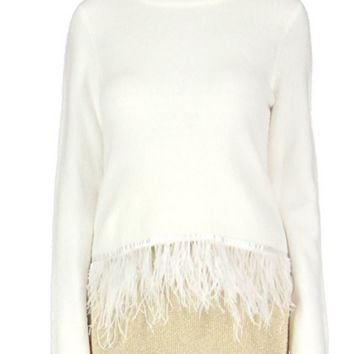 Feather Sweater Ivory