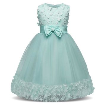 6 8 10T Flower Girls Dresses for Weddings And Party Little Princess Kids Clothes Children's Communion Costume For Girl Vestidos