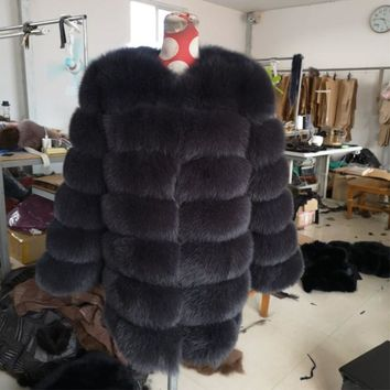 100% natural fox fur  fur coat  mink coat  winter fur jacket  real fur