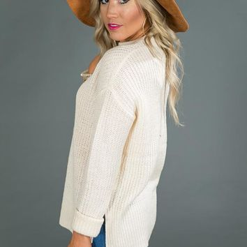 Falling Leaves Sweater in Cream
