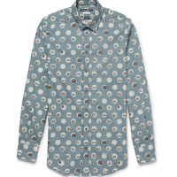 Dolce & Gabbana - Gold-Fit Printed Cotton Shirt | MR PORTER