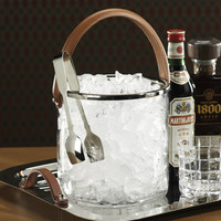 Equestrian Ice Bucket and Tongs Set