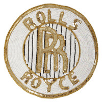 Oversized Rolls Royce Sequin Patch