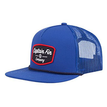 CAPTAIN FIN Conditioned Mens Trucker Hat, Royal