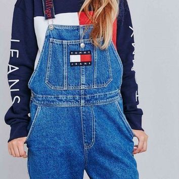 Tommy Jeans x Urban Outfitters Fashion Women Romper Jumpsuit Pants G