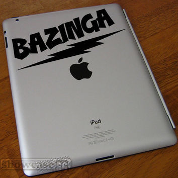 BAZINGA - Vinyl Laptop Art - FREE Shipping - Fun Decal Inspired by The Big Bang Theory