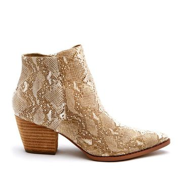 Matisse Astoria Snake Animal Print Ankle Boots