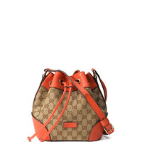 GG Classic Small Bucket Bag, Beige/Orange - Gucci