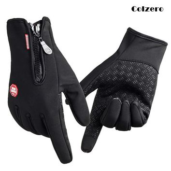 Waterproof Winter Warm Fishing Gloves Men Ski Snowboard Gloves Motorcycle Riding Winter Touch Screen Snow Wind Stopper Gloves