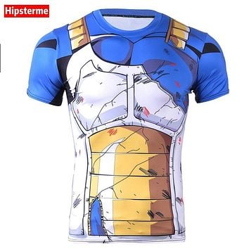 Hipsterme  Ball Z Men 3D Dragon Ball Z T Shirt Vegeta Goku Summer Style Jersey 3D Tops Fashion Clothing Tees Plus