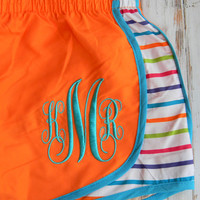 Monogram Running Shorts Athletic Shorts MORTS by PoshPrincessBows1
