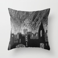 black city Throw Pillow by Marianna Tankelevich
