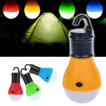 Hot Sale 3 Modes Led Night Light Led Tent Camping Lamp ABS Mini Led Emergency Lights with Hook Battery Powered Bulb for Camping
