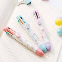 Cute Little Girl 8 Colors Chunky Ballpoint Pen School Office Supply Gift Stationery Papelaria Escolar
