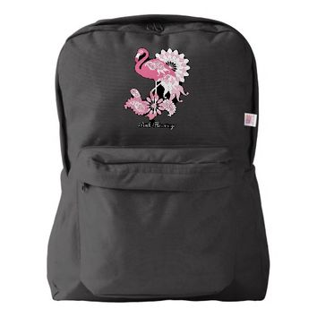 Cute Funny Paisley Pink Flamingo Personalized Backpack