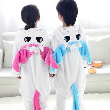 Children Animal Onesuit Unicorn Pajamas For Kids Halloween Cosplay Costume For Girls Boys Pijama Infantil Menino