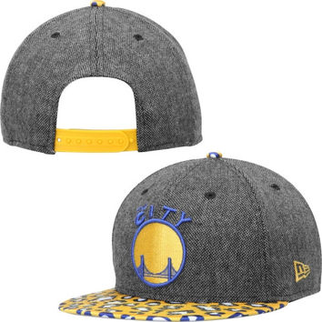 Golden State Warriors New Era Satin Specialty 9FIFTY Snapback Adjustable Hat – Black