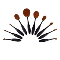 Artist Collection Luxurious 10-piece Oval Makeup Brush Set   Overstock.com Shopping - The Best Deals on Makeup Brushes