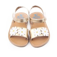 ROMIRUS New Cute Solid Flower Sandals Baby Anti-slip New Born Casual Shoes Footwear for Babies