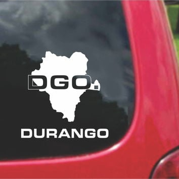 Durango Mexico Outline Map Sticker Decal 20 Colors To Choose From.