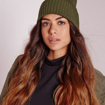 Missguided - Pom Pom Hat Khaki