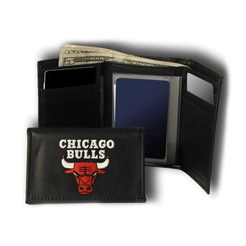 Chicago Bulls NBA Embroidered Trifold Wallet