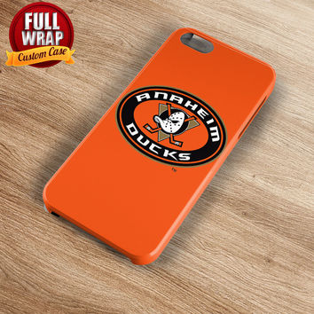 Anaheim Ducks Orange Logo HockeyTeam Full Wrap Phone Case For iPhone, iPod, Samsung, Sony, HTC, Nexus, LG, and Blackberry