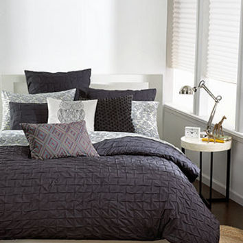 Bar III Bedding, Box Pleat Carbon Collection - Back To School - Bed & Bath - Macy's