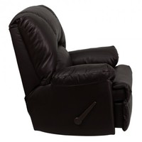 Flash Furniture Contemporary Rocker Recliner Upholstery: Apache Brown Leather - WM-8500-372-GG - Recliners - Living Room Furniture - Furniture