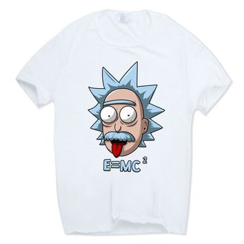 Rick And Morty Funny Einstein Anime T-Shirt