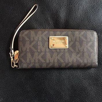 DCCKIN2 michael kors wallet brown