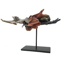 Saint Anthony on Flying Frog with Rats Figurine Statue by HIeronymos Bosch 6.5L