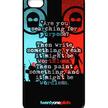 Twenty one pilots liryc iPhone 4/4s Case
