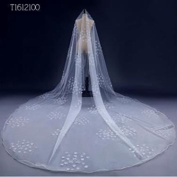 Free Shipping Real Photos 3*3M White/Ivory Wedding Veil  long Bridal Veil Head Veil Wedding Accessories Hot Sell EE2100