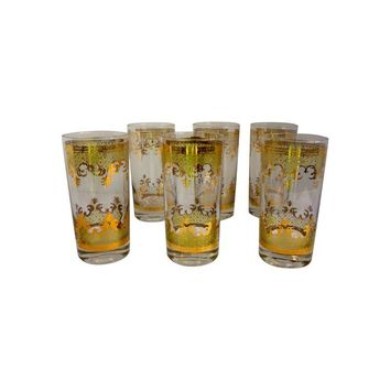 Pre-owned Georges Briard Cocktail Bar Glasses - Set of 6