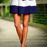 Starboard Bow Skirt, Navy/White