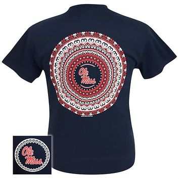 Mississippi Ole Miss Rebels Preppy Mandala T-Shirt