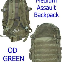 Medium Molle Assault Pack USMC Hiking Backpack OD Green