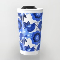 The Flower Blues Travel Mug by Noonday Design | Society6