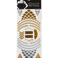 Aeropostale  Metallic Flash Temporary Tattoos - Black