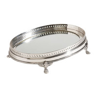 Oval Mirrored Silver Tray - Ethan Allen US